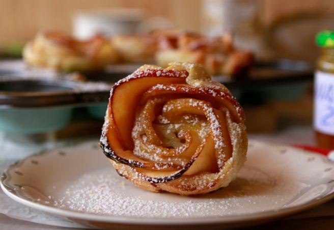 Rosas de hojaldre y manzana 46