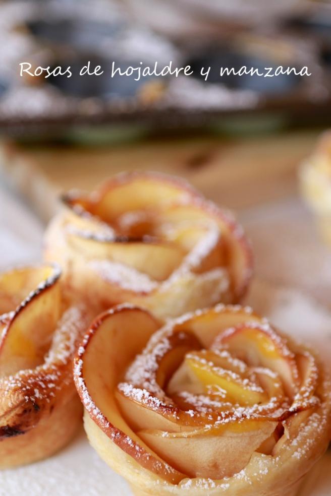 Rosas de hojaldre y manzana 65b