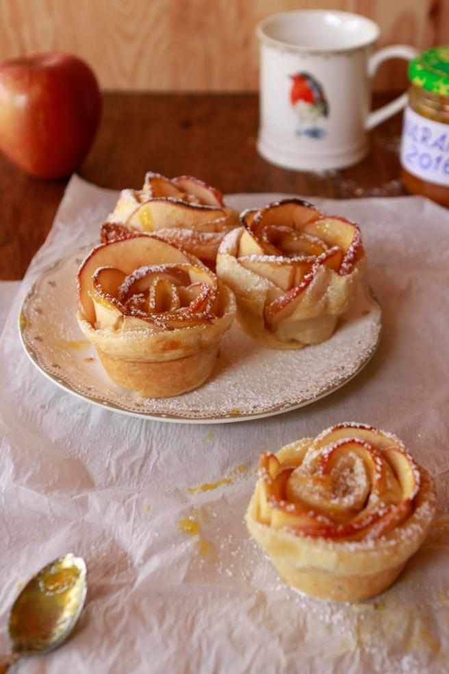 Rosas de hojaldre y manzana 69