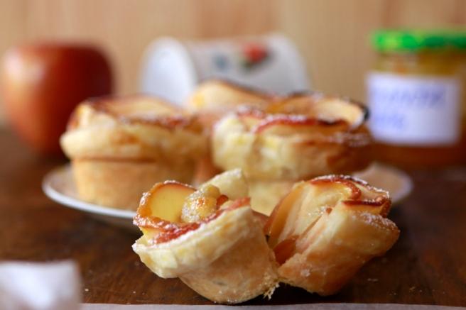 Rosas de hojaldre y manzana 75