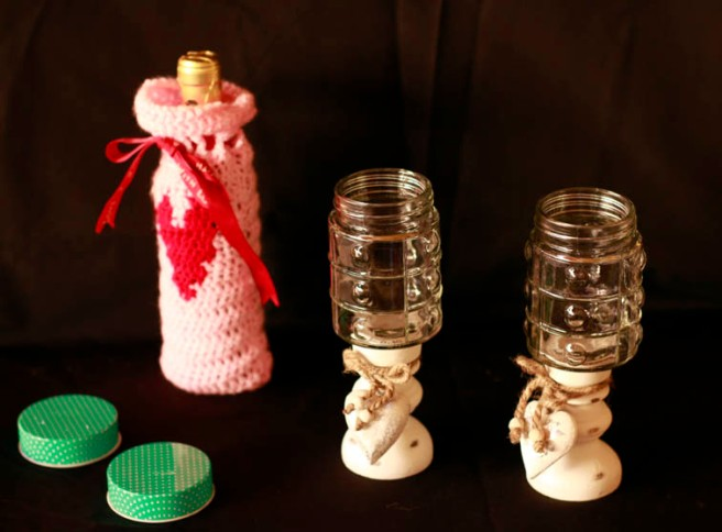 Copas con botes de cristal DIY 10