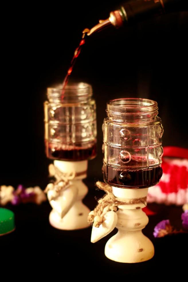 Copas con botes de cristal DIY 16