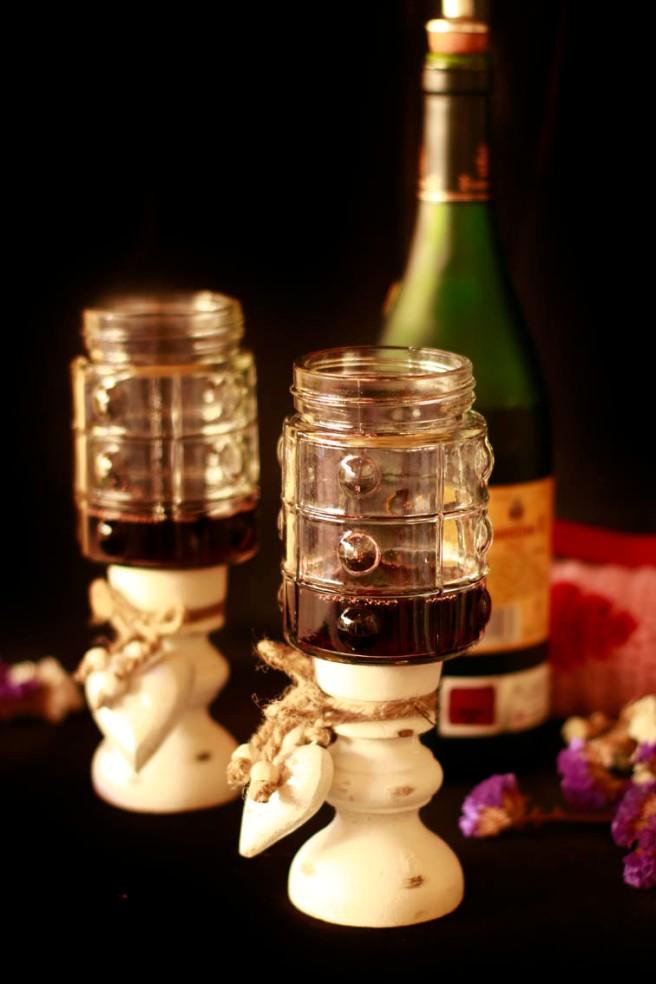 Copas con botes de cristal DIY 17