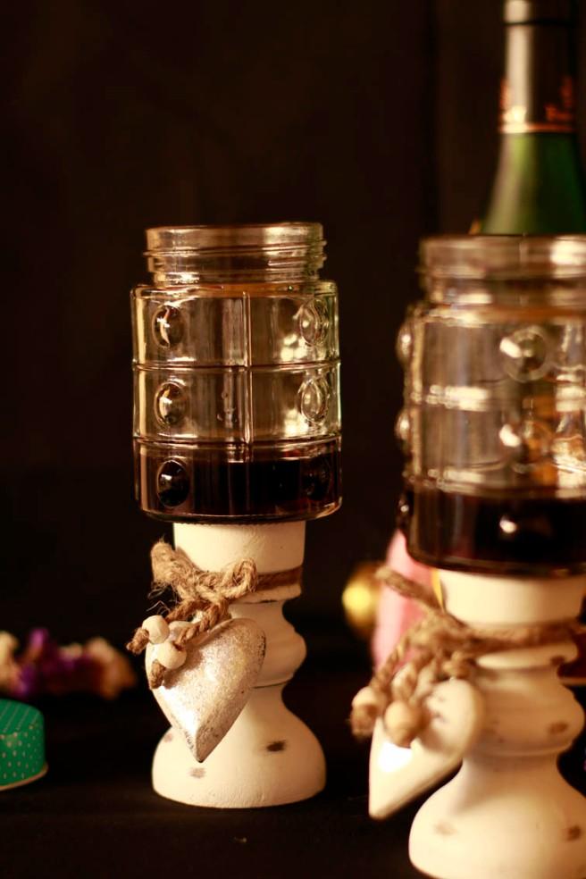 Copas con botes de cristal DIY 22