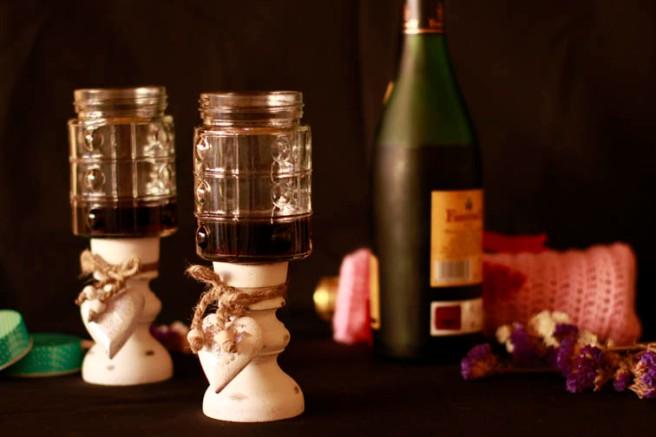 Copas con botes de cristal DIY 23