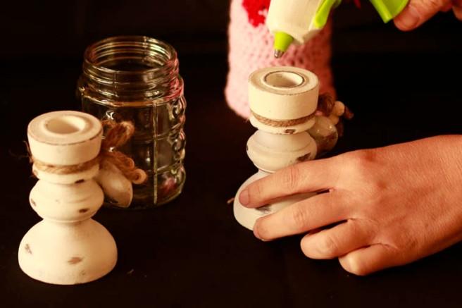 Copas con botes de cristal DIY 8