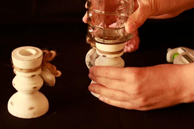 Copas con botes de cristal DIY 9