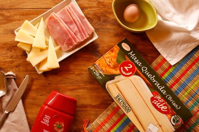 Trenza de jamón cocido y queso 1