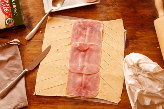 Trenza de jamón cocido y queso 13