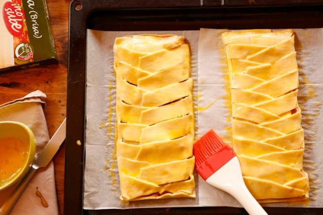 Trenza de jamón cocido y queso 20