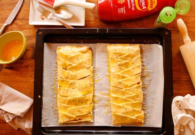 Trenza de jamón cocido y queso 23