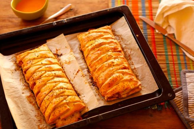 Trenza de jamón cocido y queso 25