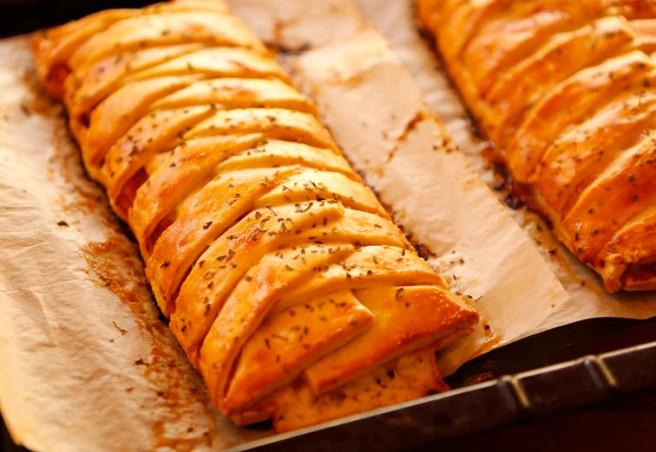 Trenza de jamón cocido y queso 26