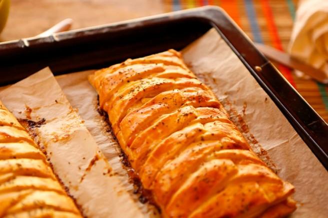Trenza de jamón cocido y queso 27