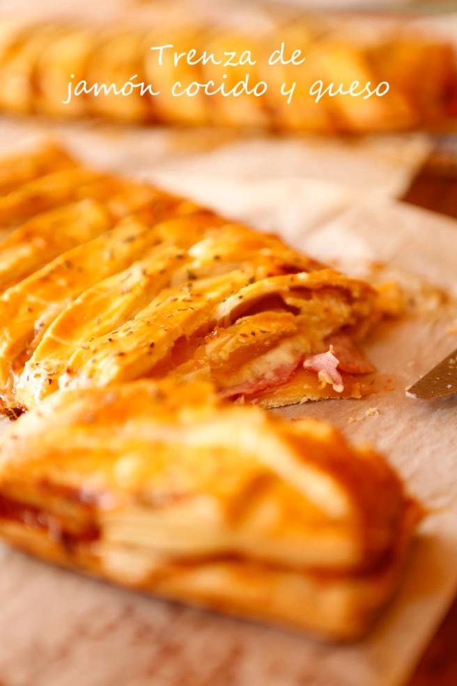 Trenza de jamón cocido y queso 36b