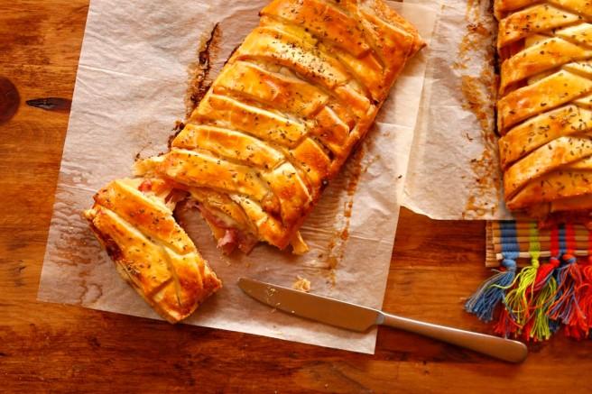 Trenza de jamón cocido y queso 42