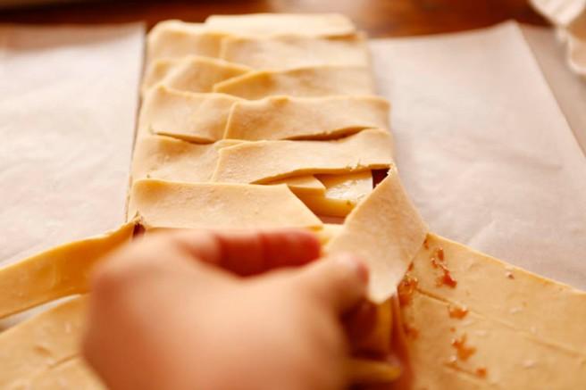 Trenza de jamón cocido y queso 8