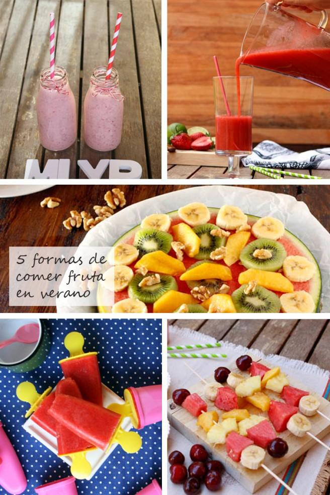 5 formas de comer fruta en verano